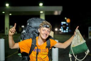 20 Jahre. Fotograf und Filmer. Trekker und Tramper. Reiste 21 Monate ununterbrochen per Anhalter von Deutschland nach